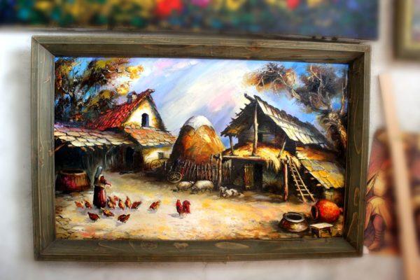 "Картина Мераб Кочиев ""Двор"""