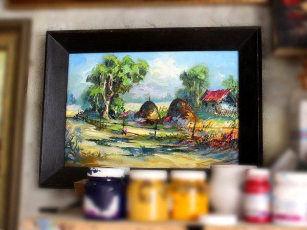 Картина Мераб Кочиев сельский пейзаж