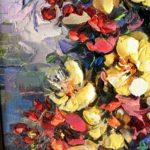 "Картина Мераб Кочиев натюрморт ""Цветы"""
